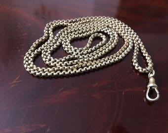 Pinchbeck Necklace,1910's,  Scalloped linked.