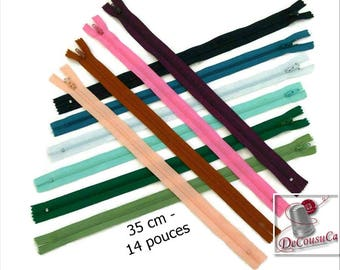 50% (1.30 reg), 35cm, zipper, #3, 14 inchs, varied color, varied size, nylon, perfect for wallets, clothing, repair, creation, liquidation