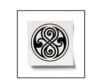 Doctor Who Decal, Dr Who Sticker, Seal of Rassilon, High Council Decal, Gallifrey, Fandom Decal, Fan Sticker, Gallifreyan Decal, Yeti Decal