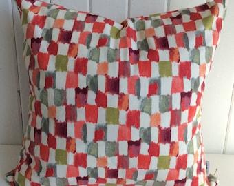 Multi Checkered Grid Cushion Cover