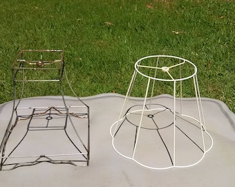 Two (2) Wire Lampshade frames