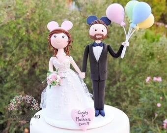 Balloons Wedding Cake Topper