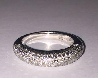 Vintage Diamond Ring in 18K White Gold