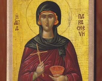 Saint Paraskevi the Virgin Martyr, Monastery of St Meletiou.Christian orthodox icon. FREE SHIPPING