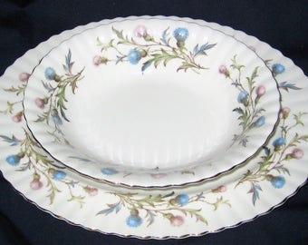 Royal Albert - Brigadoon - Oval Meat Platter and Vegetable Bowl