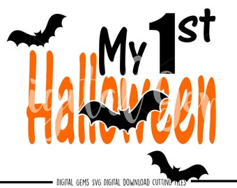 1st First Halloween svg / dxf / eps / png files. Digital download. Compatible with Cricut and Silhouette machines.