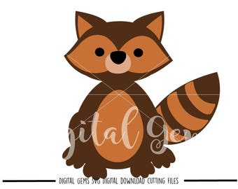 Raccoon svg / dxf / eps / png files. Digital download. Compatible with Cricut and Silhouette machines. Small commercial use ok.