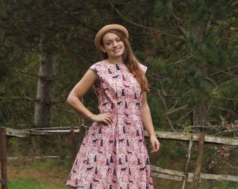 Labrador English Country Style Vintage Inspired Tea Dress All Sizes Made to Order