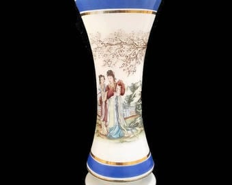 vintage large french opaline vase