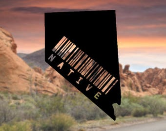 Nevada Native Decal, Nevada Decal for Car, Nevada Decals, Nevada Native Sticker, Car Decals, Car Window Decals, Laptop Decals, Cup Decals