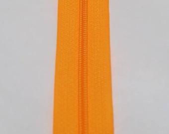 Neon orange zipper 20 cm, spiral stitch