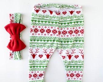 baby leggings - girl Christmas leggings - baby Christmas leggings - toddler leggings - toddler Christmas leggings - Christmas leggings