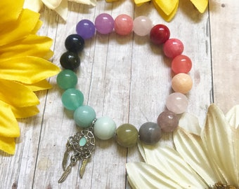 Rainbow Dreamer Super Stretch Beaded Gemstone Bracelet