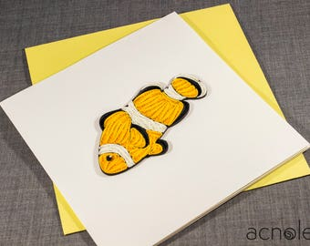 Quilled Fish Animal Card