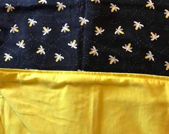 Large flannel recieving blanket, swaddle blanket, double sided baby blanket, nursery