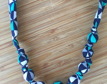 Nursing necklace // teething necklace // navy green and grey