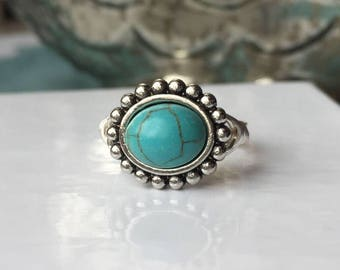 Best Seller! Turquoise Ring | Turquoise Jewelry | Vintage-esque Turquoise Ring | Statement Ring | Ring Gift | Turquoise Gift | Turquoise