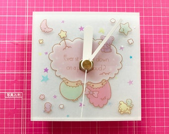 Little Twin Stars Wall Clock