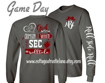 1 Youth Monogrammed Shirt, game day shirt, team shirt