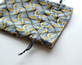 "Bourse en tissu ""Blue Bamako"""