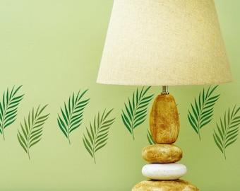 CraftStar Small or Mini Palm Leaf Stencil - Reusable Mylar Palm Frond Stencil