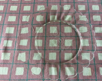 Vintage duraalex glass side plate with etched design