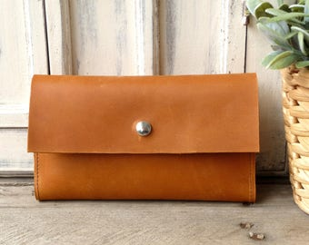 Leather wallet - cognac! Lady's wallet cognac, leather wallet, leather purse!