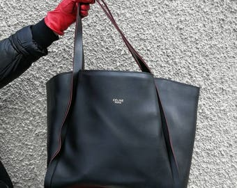 Real leather tote bag, Black bag, tote bag, Women Carry Bag, Office leather Bag, Everyday Bag