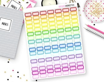 Custom Color Mini Box Stickers for Erin Condren Life Planner, Plum Paper or Mambi Happy Planners