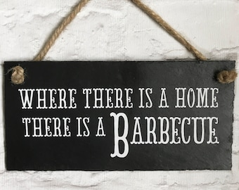 BBQ Sign. Barbecue Gift. Barbecue Quote. Funny Garden Sign. Barbecue Plaque.