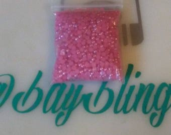 hot pink 3mm flatback pearls