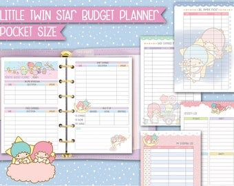 Printable filofax pocket inserts Budget planner kawaii inserts travelers notebook finance inserts budget inserts expense tracker