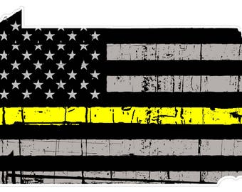 Pennsylvania State (E39) Thin Yellow Line Dispatch Vinyl Decal Sticker Car/Truck Laptop/Netbook Window