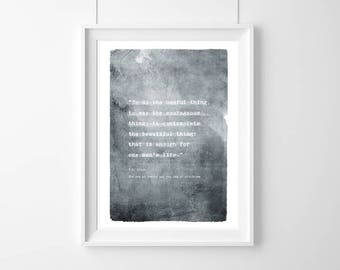 Poster quote T.S. Eliot :To do the useful thing(…)poetry quote ,Quote, Inspirational, Gift ,Typography Poster,beautiful print