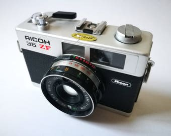 Ricoh 35ZF with New Light Seals. Vintage Ready-To-Use 1970s Rangefinder Camera