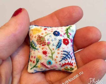 Miniature pillow Hand embroidery