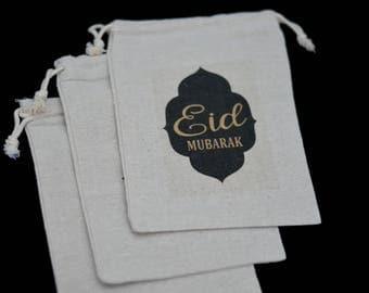 Eid Mubarak Drawstring Bag