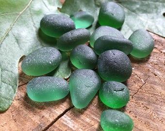 Teal & Green Sea Glass Mix