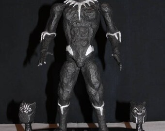 Black Panther (with 2 masks and a stand)