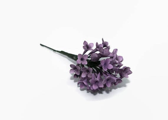 Lilac Sugar Flowers Spray in Deep Purple/ Plum Color for wedding cakes, gumpaste flowers, cake toppers