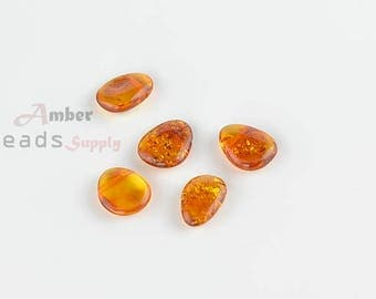 Baltic Amber Beads, Beads for Jewelry Making, Amber Beads, Amber for Jewelry, Drop shaped Beads, Natural Amber, 5 Pieces