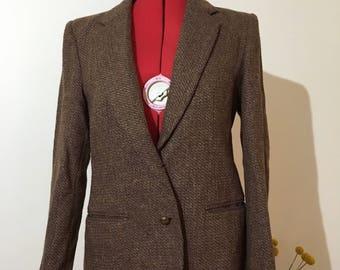 Vintage brown tweed blazer
