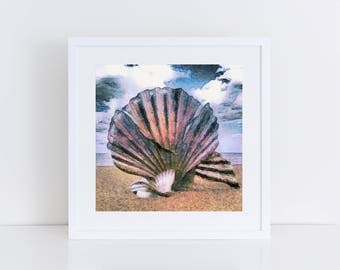 Suffolk Scene - The Scallop, Aldeburgh - Print of original artwork - art print