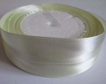 5 m 20mm ecru colored satin ribbon