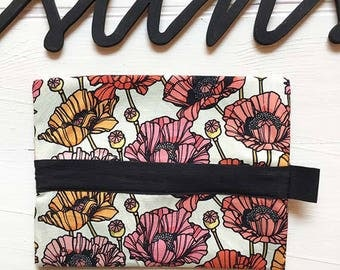"""Fabric pouch with zipper """"Poppies"""""""