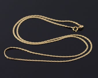 """14k 1.3mm Pressed Anchor Link Chain Necklace Gold 20"""""""