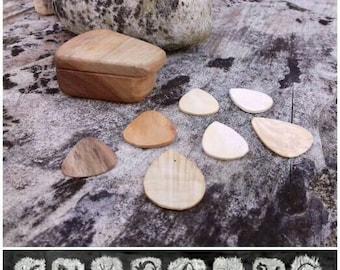 WALNUT Guitar PICK BOX/pick holderwooden guitar pick/guitar pick case/wooden guitar picks/personalized guitar pick box