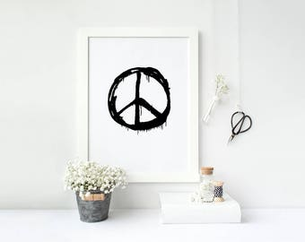 Peace Sign Home Decor Print