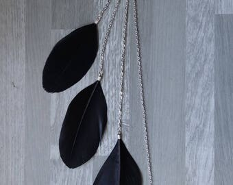Black and silver hair jewelry