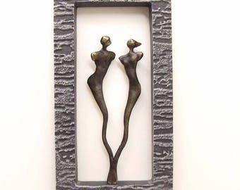 Wall frame with 2 characters 23X12cm